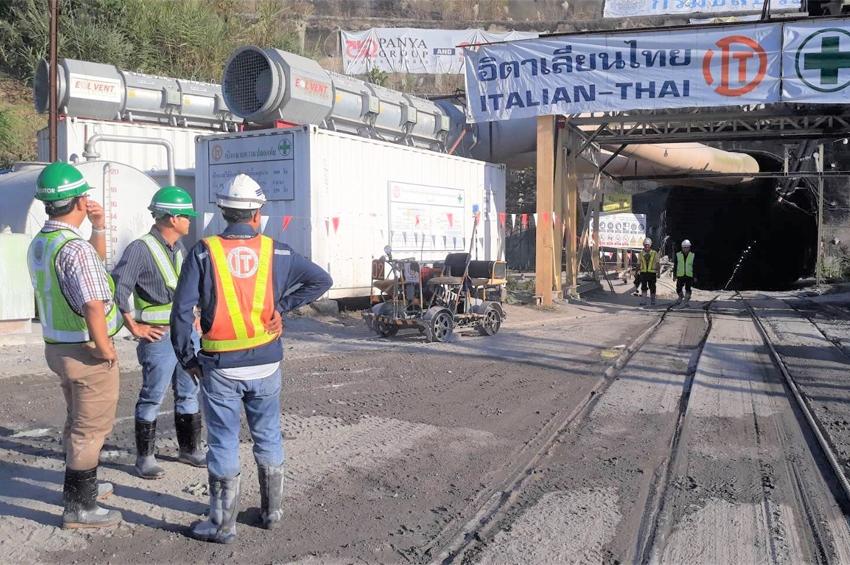 ผสญ.1 ลงพื้นที่ งานก่อสร้างอุโมงค์ส่งน้ำช่วงแม่งัด – แม่กวง สัญญาที่ 1 บริษัทอิตาเลียนไทย