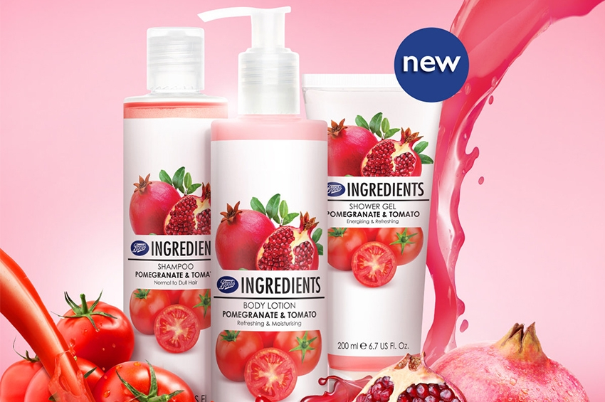 Boots Ingredients Pomegranate & Tomato