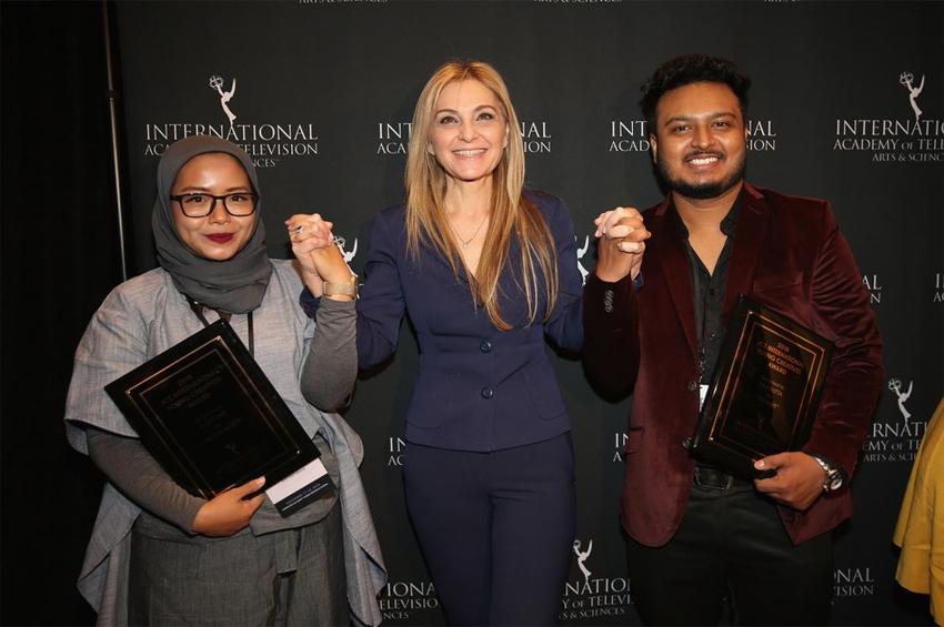 """พิธีมอบรางวัล """"JCS International Young Creatives Award 2018"""" จัดขึ้นในงาน International Emmy World Television Festival"""