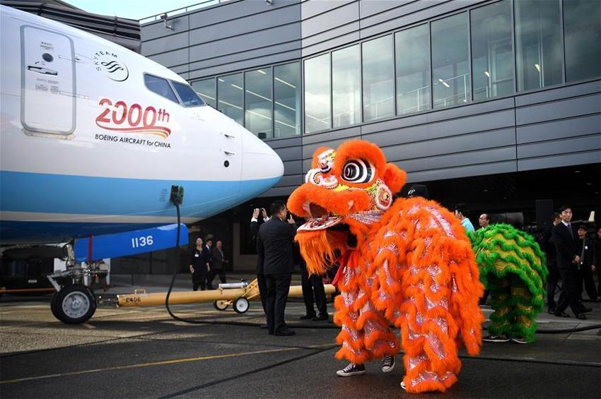 โบอิ้งส่งมอบเครื่องบินลำที่ 2,000 ป้อนอุตสาหกรรมการบินพลเรือนจีน