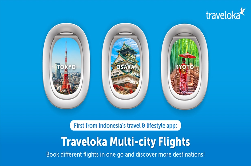 Traveloka ฟีเจอร์ค้นหาเที่ยวบินแบบ Multi-city Flights!
