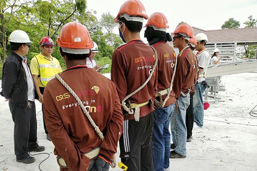 จัดทดลอง สอบมาตรฐานฝีมือแรงงาน สาขา อาชีพช่างก่อสร้าง
