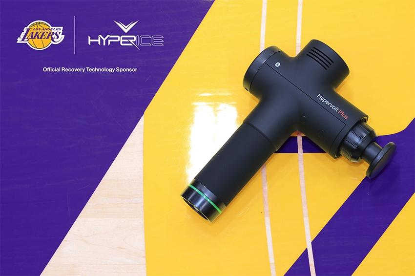 Hyperice สนับสนุนเทคโนโลยีการฟื้นฟูร่างกาย กับ Lakers