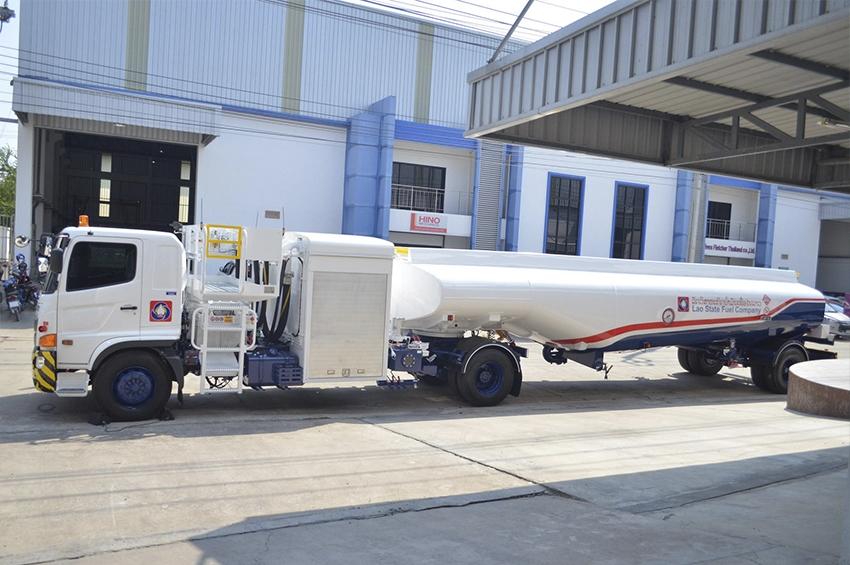 BAFS INTECH ส่งออก 'รถเติมน้ำมันอากาศยาน' ให้กับ สปป.ลาว