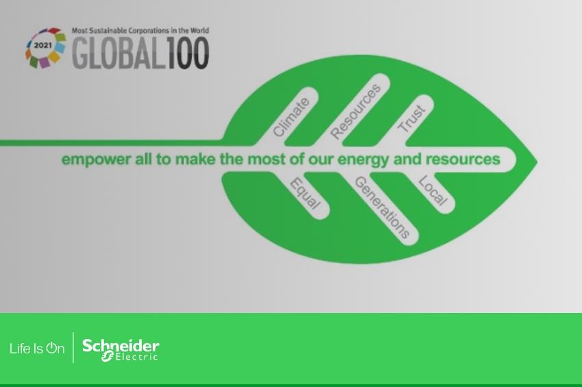 Schneider Electric ก้าวสู่เกียรติยศสูงสุด อันดับหนึ่งโลก