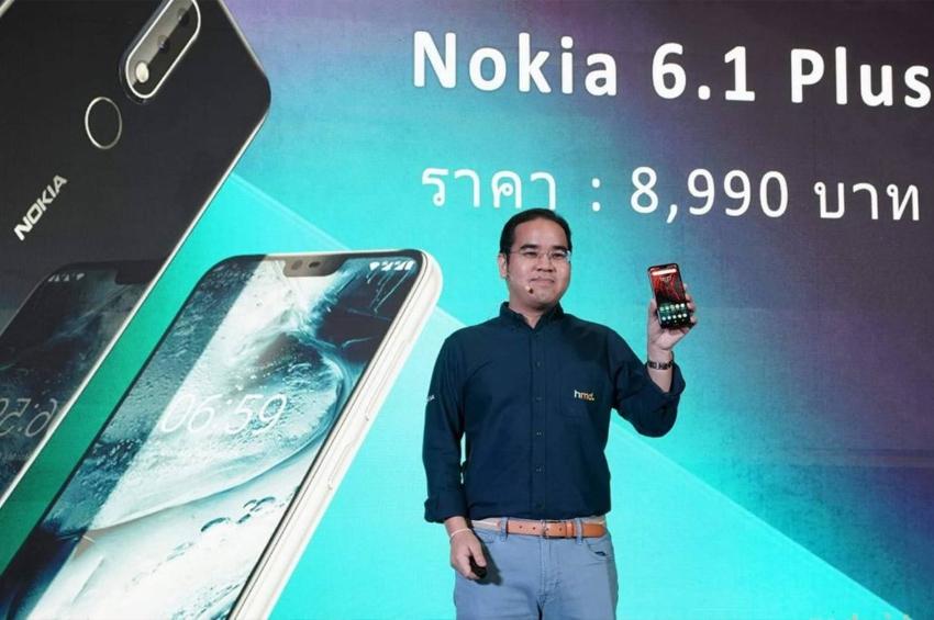 โนเกียเปิดตัว Nokia 6.1 Plus ชูจุดแข็งจอใหญ่ไร้ขอบรุ่นแรก