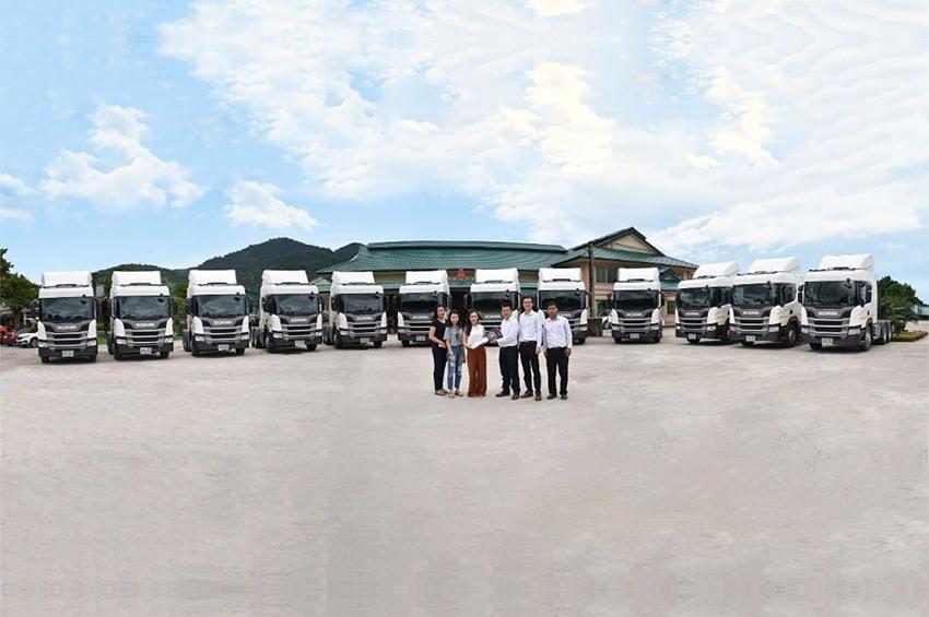Scania ส่งมอบรถรุ่นใหม่ 12 คันให้กับบ.เจนทะเล