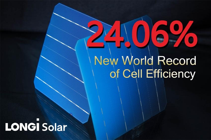 LONGi Solar ปลื้ม เซลล์ PERC แบบสองหน้า สร้างสถิติใหม่ด้วยค่าประสิทธิภาพการแปลง 24.06%