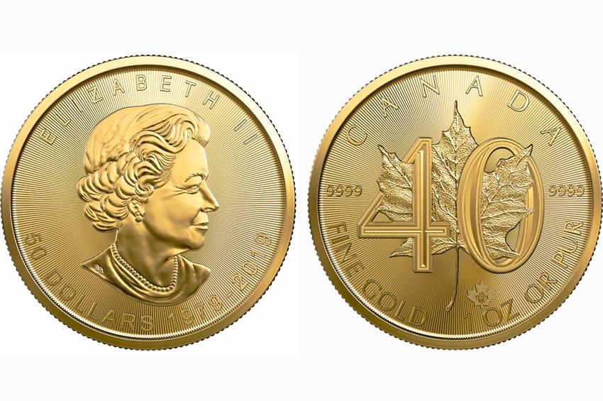 เหรียญกษาปณ์ใบเมเปิ้ลทองคำรุ่นพิเศษ