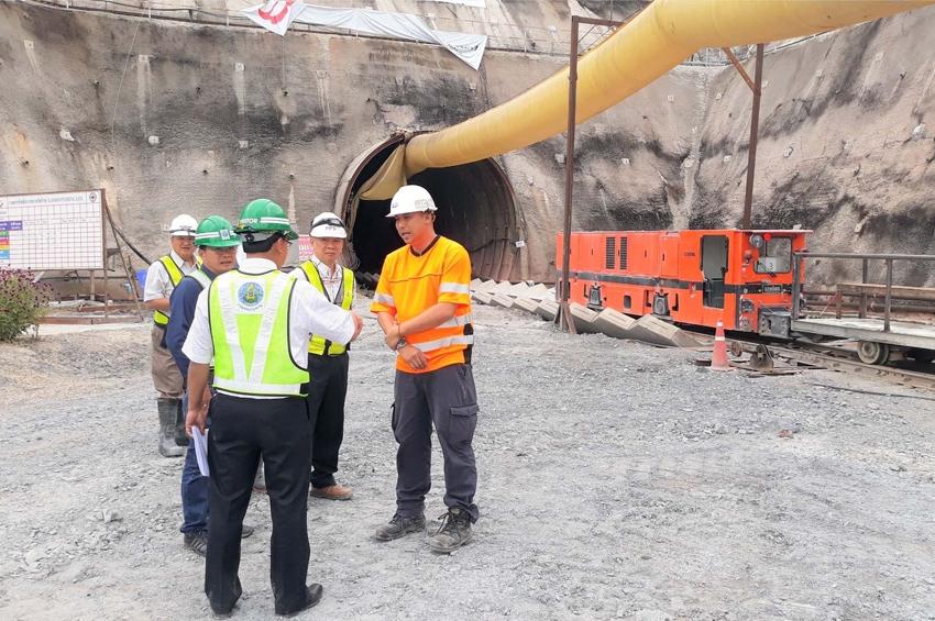 ผสญ.1 ลงพื้นที่งานก่อสร้างอุโมงค์ส่งน้ำช่วงแม่แตง – แม่งัด สัญญาที่ 2 บริษัท สยามพันธุ์วัฒนา